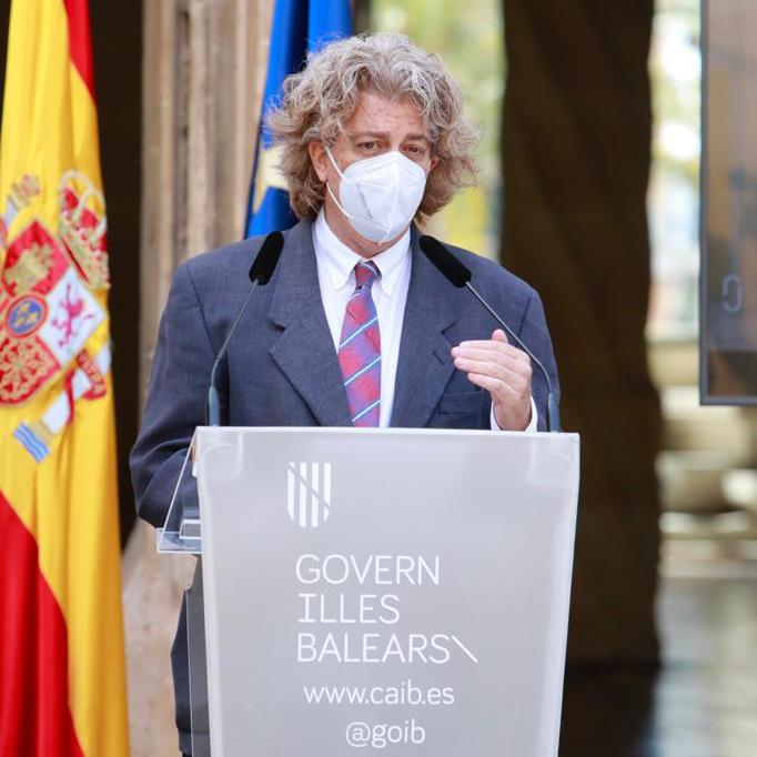 Joaquín Tintoré, director de la ICTS SOCIB, durante la presentación del nuevo edificio del SOCIB que ha tenido lugar, este jueves, en el Consolat de Mar, Palma.